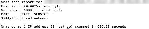 OS X firewall enabled