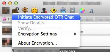 Initiate an OTR Chat