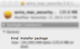 File kind - Installer Package