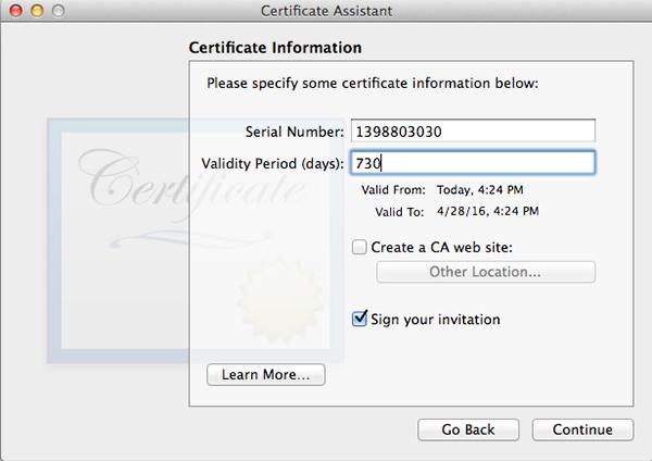 CertificateInfo