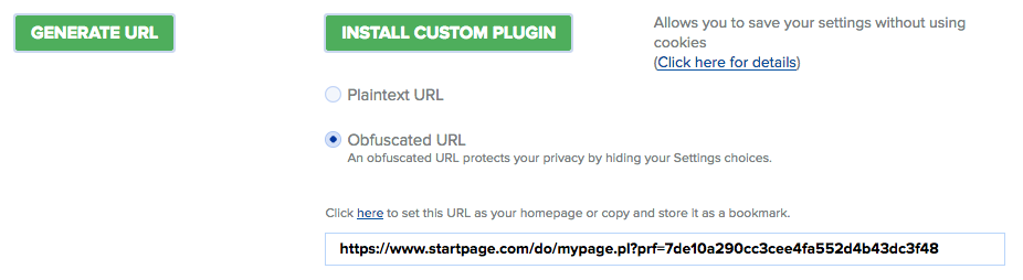 startpage-save-settings
